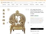 Brass Made Shiva Parivar-Large Size Shiva Family Statue