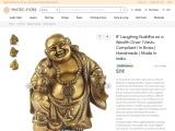 Vastu Compliant Laughing Buddha Brass Sculpture as a Wealth Giver