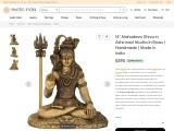 Get Mahadeva Shiva in Ashirwad Mudra Brass Sculpture