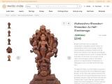 Mahavishnu-Bhoodevi-Shreedevi As Half-Sheshanaga Wooden Statue