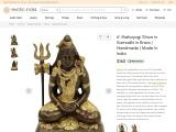 Mahayogi Shiva Brass Sculpture in Samadhi
