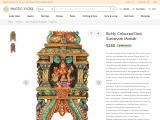 Devi Sarasvati Mandir-South Indian Temple Wooden Carving