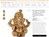 The Royal Grandeur of Turbaned Ganesha – Brass Sculptures