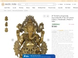 Get Brass Sculpture Seated Lord ganesha Surrounded By A Sea Of Lotuses