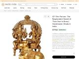 Shiv Parivar- The Resplendent Nandi At Their Feet Brass Statue