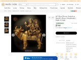 Brass Statue-Shiva Parivar Seated on Nandi