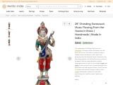 Get Brass Statue-Standing Saraswati Flowing Music From Her Veena