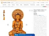 Get Marble Sculpture Of Tibetan Buddhist Lord Buddha in Dharmachakra Mudra