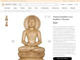 Gambhar Wooden Sculpture-Tibetan Buddhist Lord Buddha in Dhyana