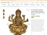 Get Treasured Goddess Lakshmi Wall Hanging Brass Sculpture