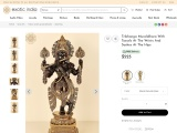 Tribhanga Muralidhara Krishna Brass Sculpture With Tassels At The Wrists