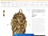 Warrior Lord Ganesha With Nandi And Shadbhujadhari Shiva- Brass Statue
