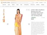 Banarasi Handloom Sari with Brocaded Hand-woven Geometric Motifs Pallu All-over