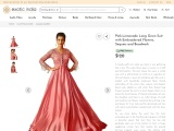 Get Pink-Lemonade Long Gown Suit with Embroidered Flowers-Sequins and Beadwork