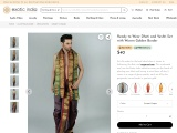 Get Ready to Wear Dhoti and Veshti Set with Woven Golden Border