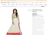 Get Vanilla Bridal Karishma Anarkali Suit with Zardozi Embroidery