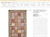 Get Winter-White Handloom Carpet From Bhadohi with Knotted Persian Motifs