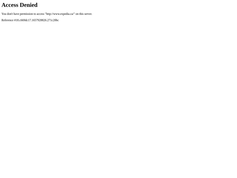 Expedia - Canada screenshot