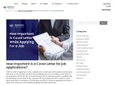 How important is cover letter while applying for a job