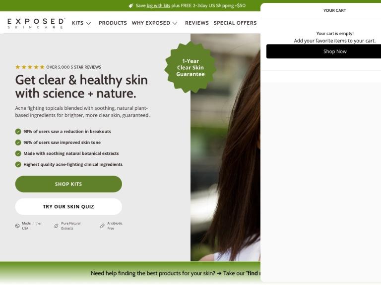 Exposed Skin Care screenshot