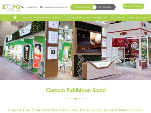 Custom exhibition stand construction
