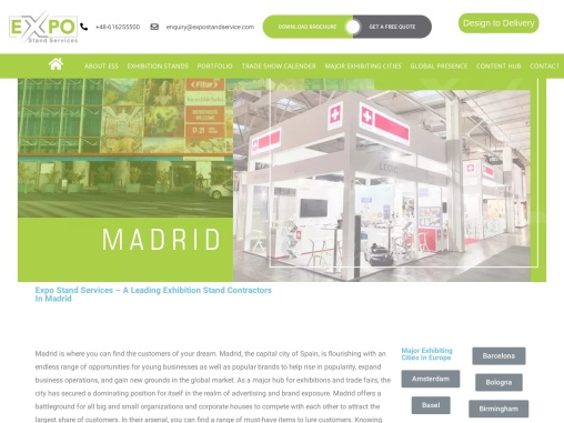 Exhibition Stand Builder in Madrid