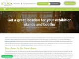 Get a great location for your exhibition stands and booths