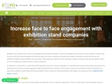 Increase face to face engagement with exhibition stand companies