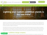 Lighting your custom exhibition stands is the new trend