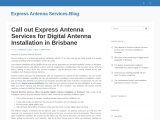 Call out Express Antenna Services for Digital Antenna Installation in Brisbane