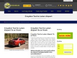Luton Airport Transfers   Taxi Drop-Off and Pick Up  Express Minicabs – Croydon.