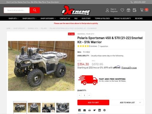 Polaris Sportsman 450 & 570 (2021) SYA Warrior Snorkel Kit – Extreme Snorkels