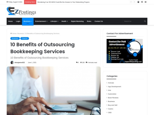10 Benefits of Outsourcing Bookkeeping Services for Your Business