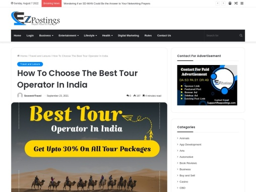How To Choose The Best Tour Operator In India