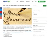 How to Get an Online Payday Loan Without a Credit Check