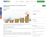 Payday Loans May Help You with Emergency Cash Requirements