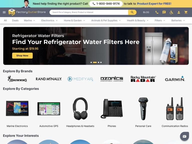 Factoryoutletstore.com screenshot