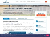 Combined Heat & Power (CHP) Market to Build Excessive Revenue at Healthy Growth Rate by 2025