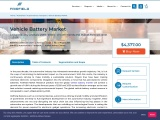 Vehicle Battery Market to Generate US$43.48 Billion, Globally, by 2025 at 4.64% CAGR