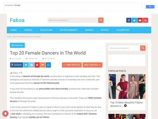 Top 20 Female Dancers in The World