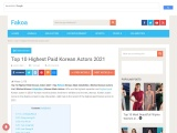 Top 10 Highest Paid Korean Actors 2021
