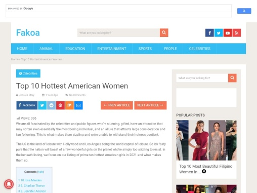 Top 10 Hottest American Women 2021