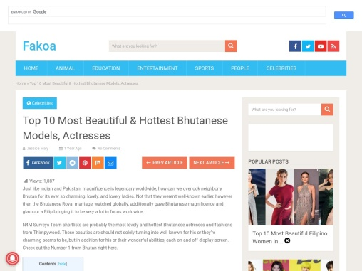 Top 10 Most Beautiful & Hottest Bhutanese Models, Actresses
