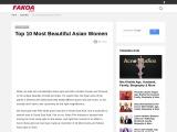 Top 10 Most Beautiful Asian Women