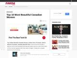 Top 10 Most Beautiful Canadian Women