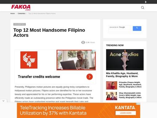 Top 12 Most Handsome Filipino Actors