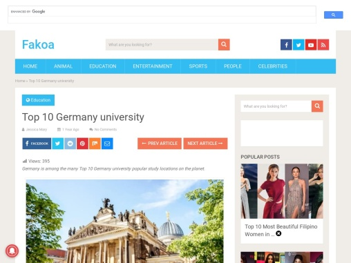 Top 10 Germany university   best Germany university 2021