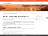 How to contact Qatar Airways from UK