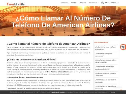 Número De Teléfono De American Airlines