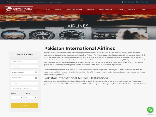 Tour Packages from Pakistan-Fatima travels